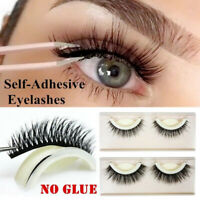 1 x Self Adhesive 3D False Eyelashes Extension Reusable Natural Curly Eye Lashes