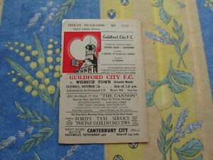 Guildford v Wisbech Friendly 1959/60