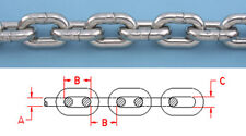 """25 ft BBB 1/4"""" STAINLESS STEEL ANCHOR CHAIN 316L DIN 766  Repl Suncor S0601-0007"""