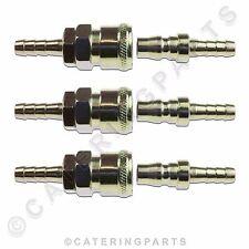 Lot de x 3 démontage rapide COUPLAGE Connecteur articulation 10mm 8mm Essence &
