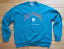 Miami Dolphins Vintage Crew Neck Lee Sport Teal Embroidered Men's L Sweatshirt