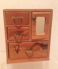 Vintage Wooden Dollhouse wardwrobe