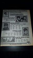 Earth, Wind, And Fire Shalamar Rare Original Radio Promo Poster Ad Framed!