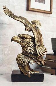 Ebros Large Wings Of Liberty American Bald Eagle Head Bust Soaring Eagle Statue