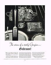 1934 BIG Vintage International Silver Co. Gadroon Pattern Photo Print Ad