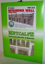 Metcalfe PN144 Retaining Wall, Stone Style (N Gauge)  Railway Model