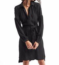NWT Gap Lace-trim shirtdres, True Black SIZE LT L T    #359052