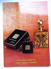 """RARE CATALOGUE DE VENTE """"FLACONS A PARFUM"""" ANCIENS / JUIN 1996 / COLLECTION"""