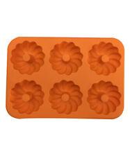 Orange Silicone 6-Flower Bakeware
