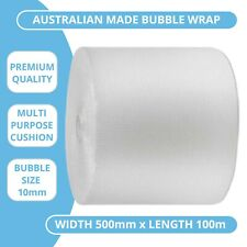 Bubble Wrap 500mm x 100m Cushioning Clear Bubbles Size 10mm 100 Metres Roll