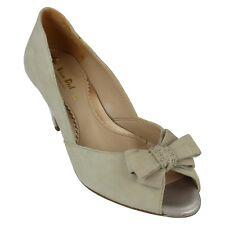 Ladies Van Dal Heeled Peep Toe Shoes - Abbey - UK 6EE - Nougat Suede Discoloured