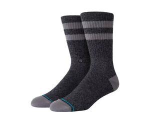 Stance UnCommon Solids Classic Joven Black/Grey Crew Socks M556C17JOV-BLK