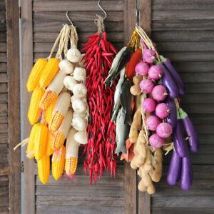 String Artificial Garlic Onion Fake Vegetables Foam Home Party Kitchen Decor