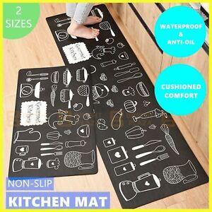 Non-Slip Home Floor Kitchen Mat Carpet Rug Waterproof Anti-Oil PVC Door Bathroom