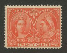 Canada 1897 QV Jubilee 20c vermillion #59  MNH