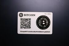 Bitcoin Wallet Card + Cover. Cryptocurrency.