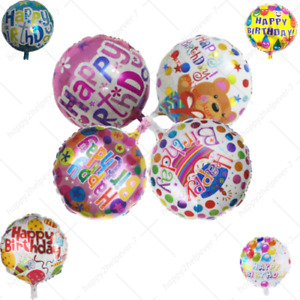 """Happy Birthday Balloon 18"""" Inch  Round Party Foil Balloons Best Quality HeliumUK"""