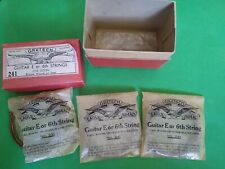 3 Gretsch E Guitar Strings. Eagle Brand. Genuine Vintage. With box