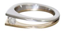 Ring Gold 585 zweifärbig mit Brillant Solitär 0,23 ct - Goldring - Solitärring