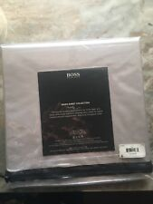 Hugo Boss Owen Collection Queen Flat Sheet Silver Egyptian Cotton