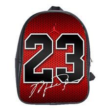 Michael Jordan 23 Bulls Leather School Backpacks Laptop Book Bags Men Women