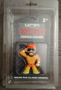 Macho Man Randy Savage Micro Brawler Classic Orange  W/ Case Exclusive PWT NEW