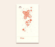 50 Butterfly Hang Tags Price Perforated Hangtags Crafts Garden Outdoors