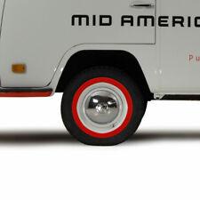"1950-1979 Volkswagen Bus Ghia Beetle 14"" Tire Wall Insert Set in Red 327544881"