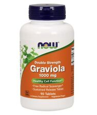 Now Foods GRAVIOLA 1000 mg - 90 tablets POSITIVE MOOD, IMMUNE & CELL SUPPORT