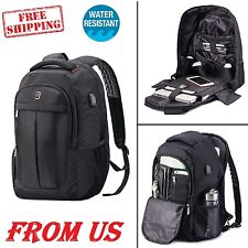 Genius School Backpack Anti-theft Travel Business Laptop Book Bag USB Charging