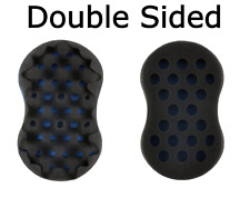 Barber Hair Double Sided Brush Sponge For Twist,Coils,Dreads Locs,Curls In Blue