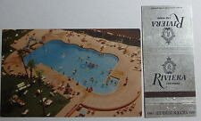 1960'S Postcard & Matchbook Combo Magnificent Riviera Las Vegas Nevada
