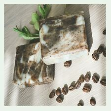 100%Natural, Luxury Handmade Coffee And Mint Exfoliating Bar with Shea Butter