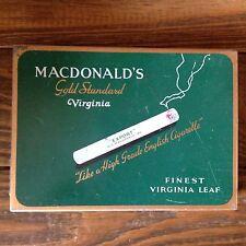 Macdonald's Gold Standard Cigarette Tin Flat 50 - W. C. Macdonald Inc. Montreal