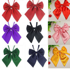 Hot Women Ladies Girls Solid Style Bow Knot Neck Tie Cravat Casual Party Banquet