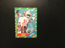 1986 Topps Football #161 Jerry Rice RC Rookie HOF 49ers.NMMT