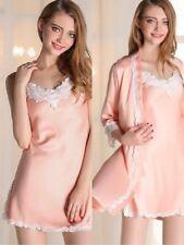 High Quality Womens Ladies Lace Silk Satin Pajamas set  Size- M