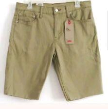 Levi's Men's 511 Slim Shorts Cut-Off Distressed Hem Stretch Khaki Pants Size 36