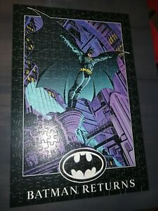 Vintage 1992 Batman Returns Jigsaw Puzzle Complete set 900 piece Golden 5158