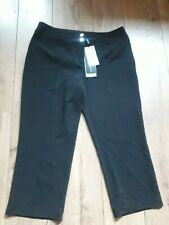 MARKS AND SPENCER AUTOGRAPH STRETCH BLACK CAPRI TROUSERS SIZE 12 - BNWT