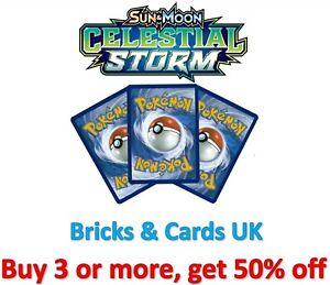 Pokemon TCG Celestial Storm - Reverse Holo Rare / Uncommon / Common Cards