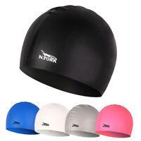 Swimming Cap Waterproof Silicone Swim Pool Hat for Adult Men Women Kids 3c