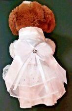Fancy White Wedding Dog Bride Dress Size Small NEW