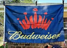 New Advertising Budweiser King of Beer 3X5 Bar Tavern Banner Man Cave Pub Flag