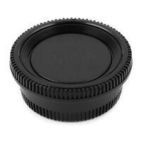 Black Plastic Camera Body Cover + Rear Lens Cap for Nikon Digital SLR R1W3