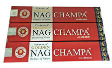 Nag Champa Golden Vijayshree-Original Red Box-15g Supreme Quality x 3 Boxes