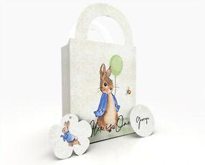 Peter Rabbit Personalised Gift Bag, Party Bag, Party Box, Treat Bag/Box