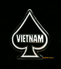 SPADE ACE DEATH CARD VIETNAM WAR HAT LAPEL PIN US MARINES NAVY AIR FORCE ARMY
