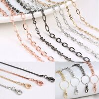 Gold/Silver/Rose gold Chain For Floating Charm Glass Locket Necklace Pendant New