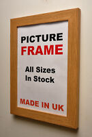 Oak Picture frame 30mm wide | All Sizes | Picture Photo frame | Made in UK